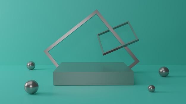 Conception de podium de rendu 3d forme abstraite pour présentation
