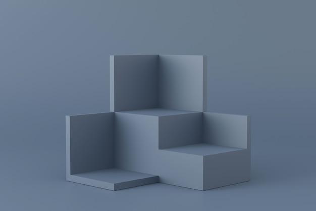 Conception de présentoir. rendu 3d.