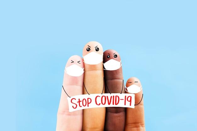 Conception de prévention covid-19 , arrêter covid-19