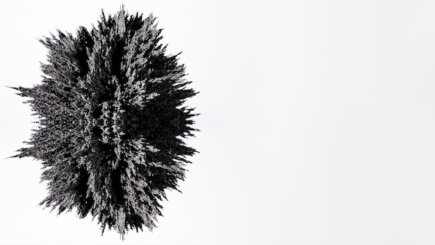 Conception de rasage métallique gris ovale isolée sur fond blanc
