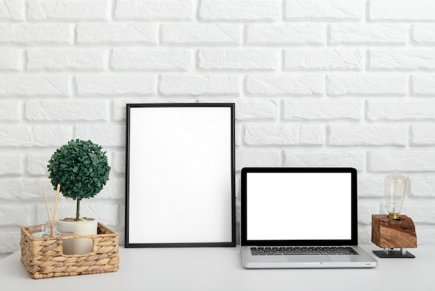 Conception de la salle à la maison avec espace de copie