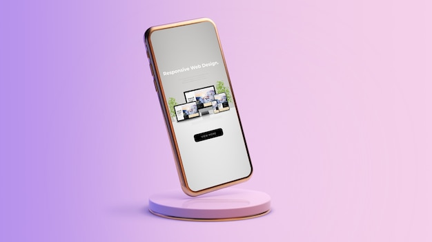 Conception de sites web réactifs sur le rendu 3d de smartphone