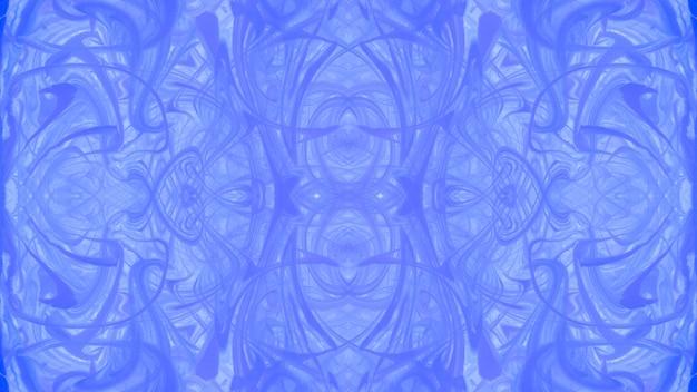 Conception de surface abstraite texture marbrée bleu symétrique