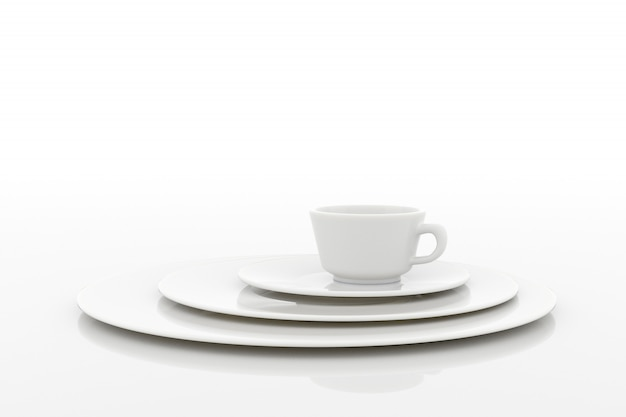 Conception de tasse à café. rendu 3d.