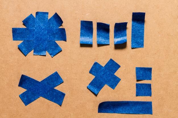 Conception de texture adhésive bleue pour papier peint