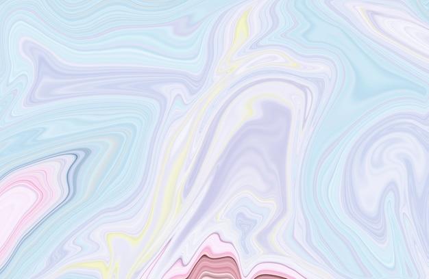 Conception de texture de marbre pastel, fond de vagues fluides marbrées de peinture liquide blanche minimale.