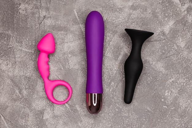 Conception de vibromasseur gode minimal pour clitoris bdsm vue de dessus des vibrateurs