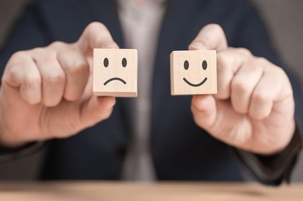 Concepts d'évaluation et d'examen concept de classement et de satisfaction client