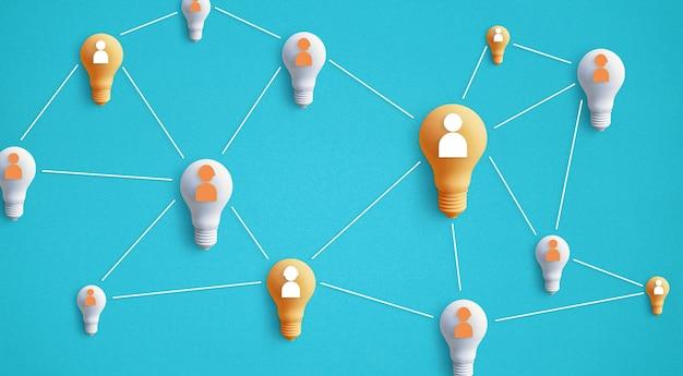 Concepts d'idée de créativité d'entreprise.