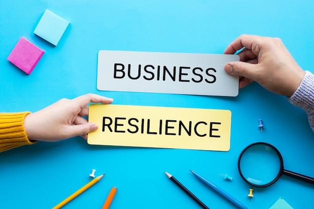 Concepts de résilience des entreprises, plan et stratégie.