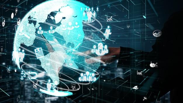 Conceptuel des ressources humaines et du réseautage des personnes