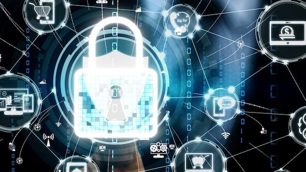Conceptuel de la technologie de numérisation numérique biométrique d'empreintes digitales