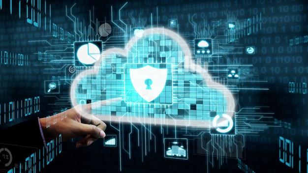 Conceptuelle de la cybersécurité et de la protection des données numériques