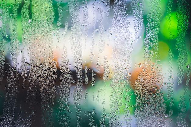 Condensation sur la vitre transparente