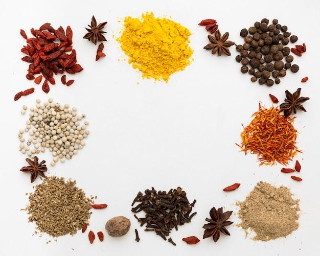 Condiments en poudre pour cadre de cuisson