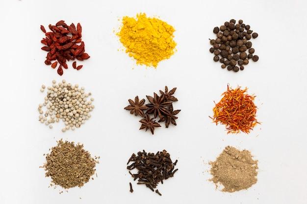 Condiments en poudre pour la cuisson
