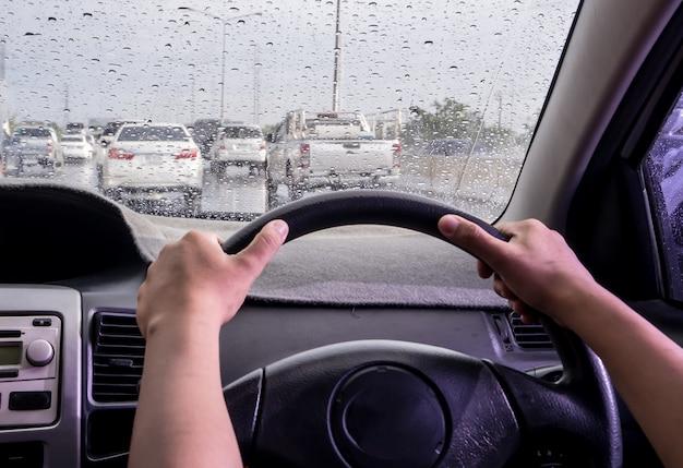 Conduire un jour de pluie