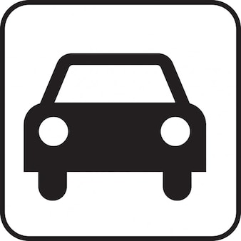 Conduite automobile voiture motorisée signe symbole icône