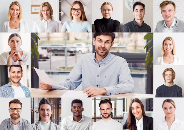 Conférence téléphonique en ligne pour une réunion d'équipe