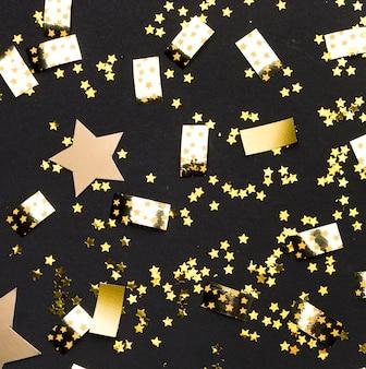 Confettis dorés pour la fête