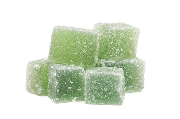 Confiserie, bonbons sucrés en carrés