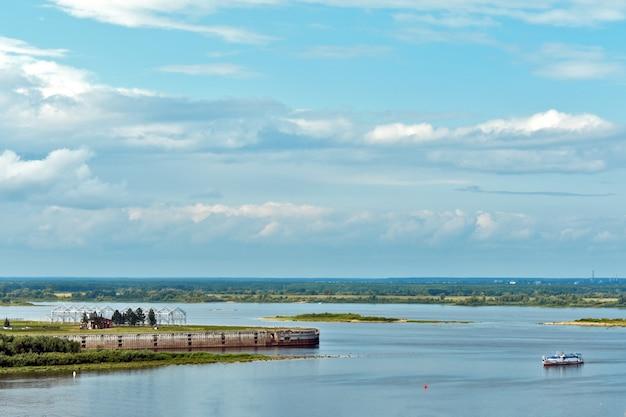Confluent des rivières d'oka et de volga
