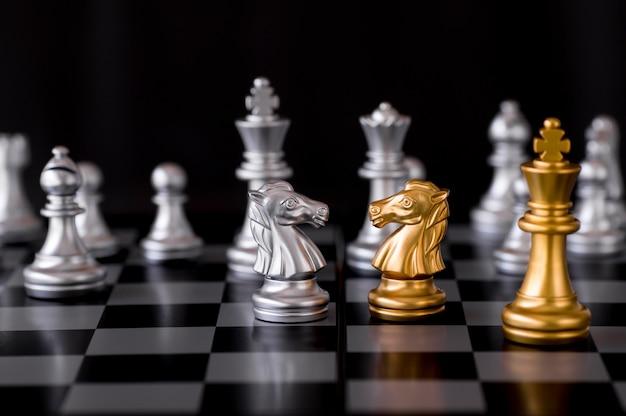 Confrontation des échecs, concept de combat d'affaires