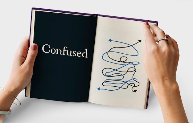 Confus, foiré, chaos, situation critique, mot, graphique