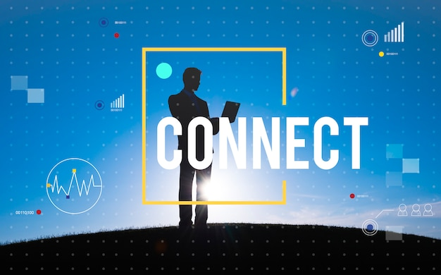 Connect communication technology internet lifestyle concept