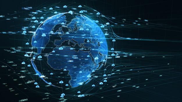 Connectivité 5g des données numériques d'arrière-plan