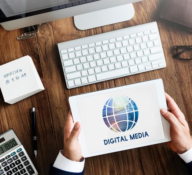 Connexion aux réseaux sociaux communication globale
