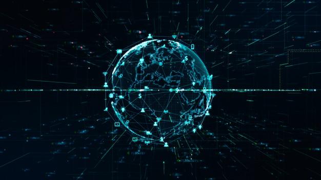 Connexion de données de réseau de technologie