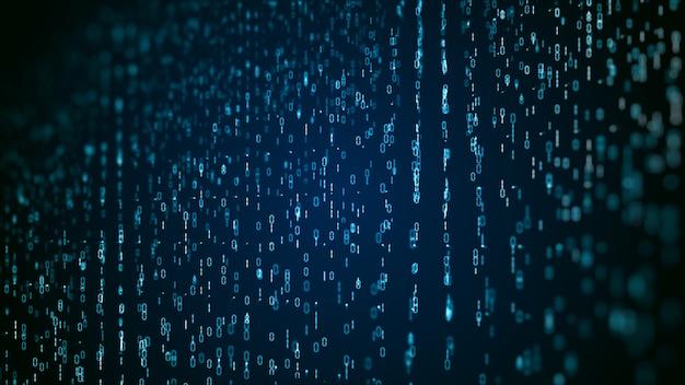 Connexion de données de réseau technologique, cyberespace numérique et concept de fond de cybersécurité numérique