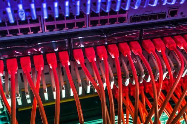 Connexion haut débit au serveur de données via les protocoles ethernet
