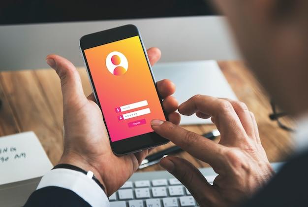 Connexion mot de passe utilisateur concept de confidentialité