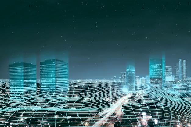 Connexion réseau numérique abstraite