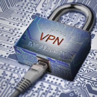 Connexion à la sécurité internet, sécurité électronique, cryptage du trafic internet.