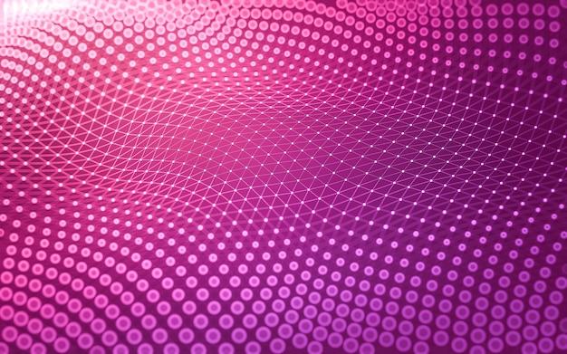 Connexions numériques avec des points et des lignes