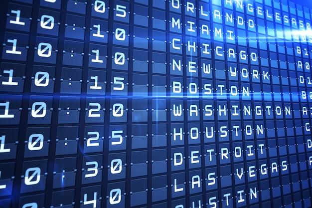 Conseil des départs bleus pour les grandes villes américaines