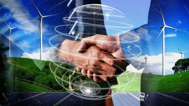 Conservation conceptuelle de l'environnement et développement esg durable