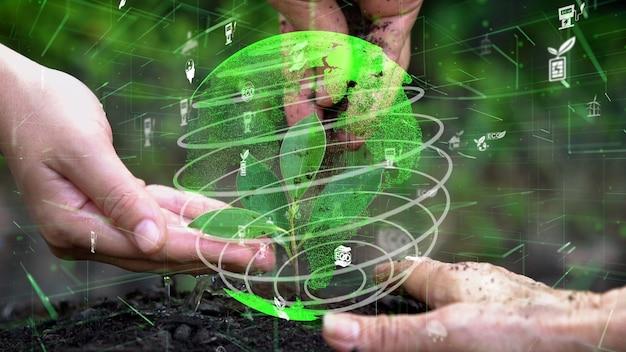Conservation future de l'environnement et développement durable de la modernisation esg