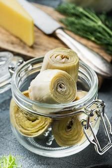 Conserves D'artichauts à L'huile D'olive Photo Premium