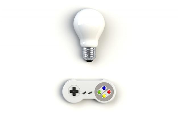 Console de jeux vidéo gamepad. concept de jeu