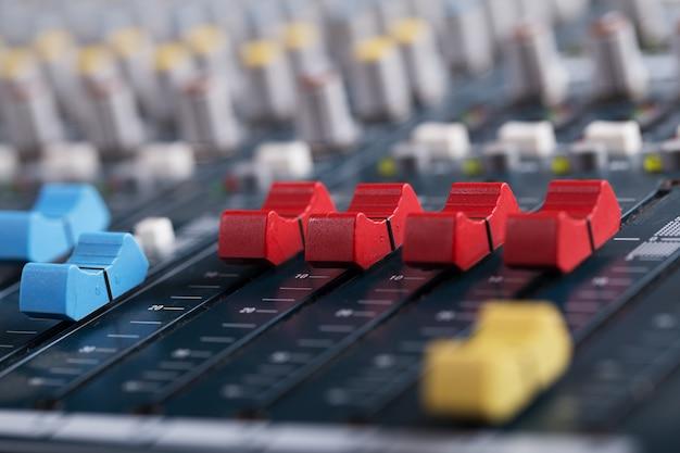 Console de mixage de musique
