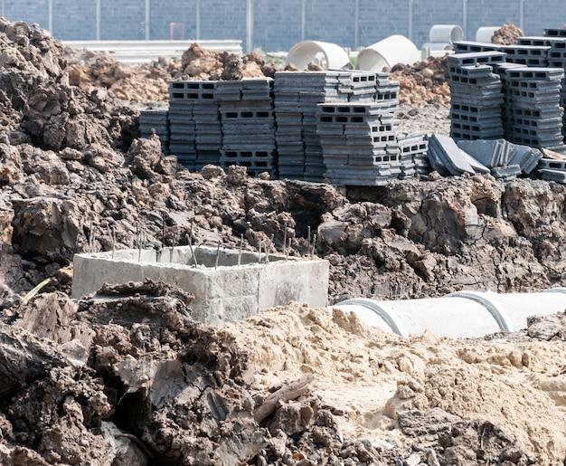 Construction d'égouts