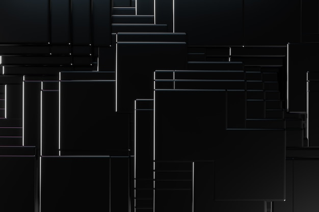 Construction fond carré noir