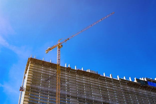 Construction de logements en mer.