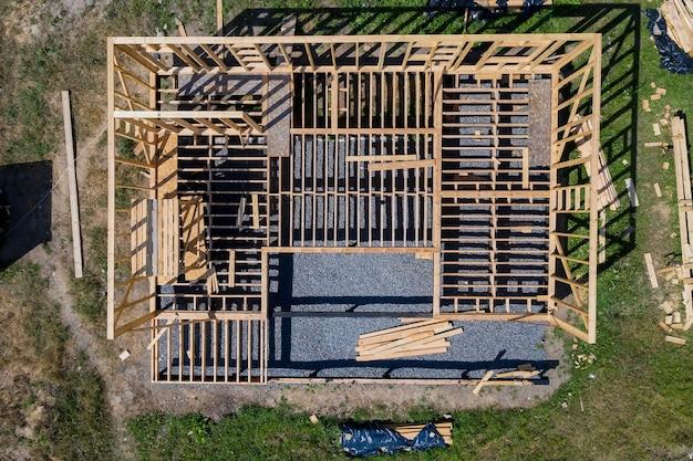 Construction de maison à ossature.