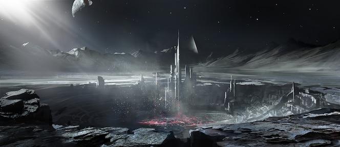 Construction de la planète extraterrestre.