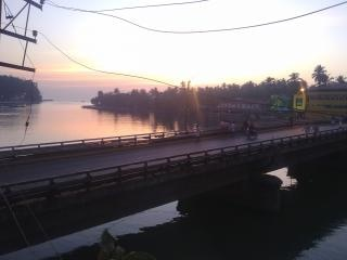 Une construction de pont